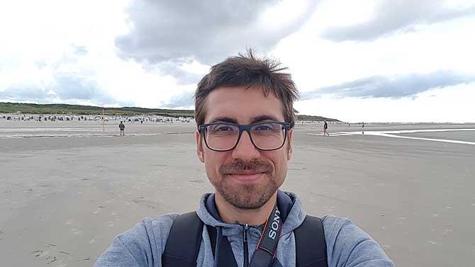 Ich am Spiekerooger Strand