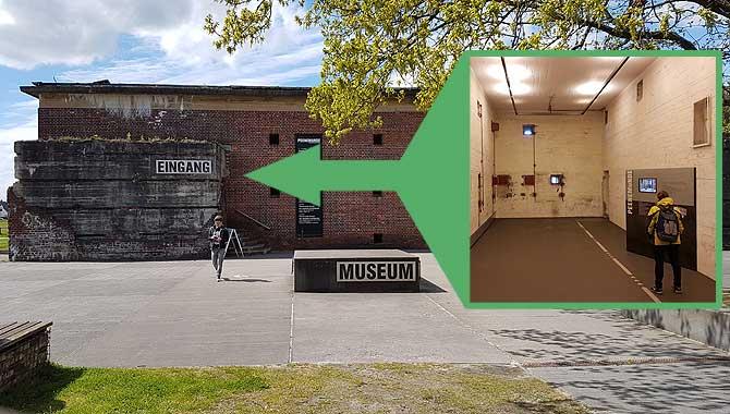 Eingang zum Museum der Versuchsanstalt Peenemünde