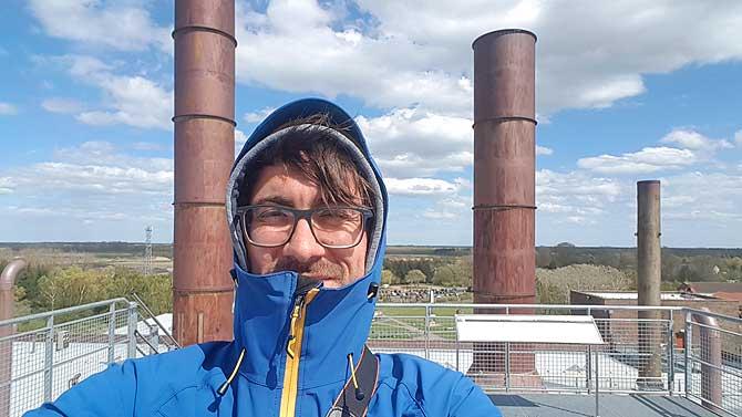 Ich auf der Plattform im Museum der Versuchsanstalt Peenemünde