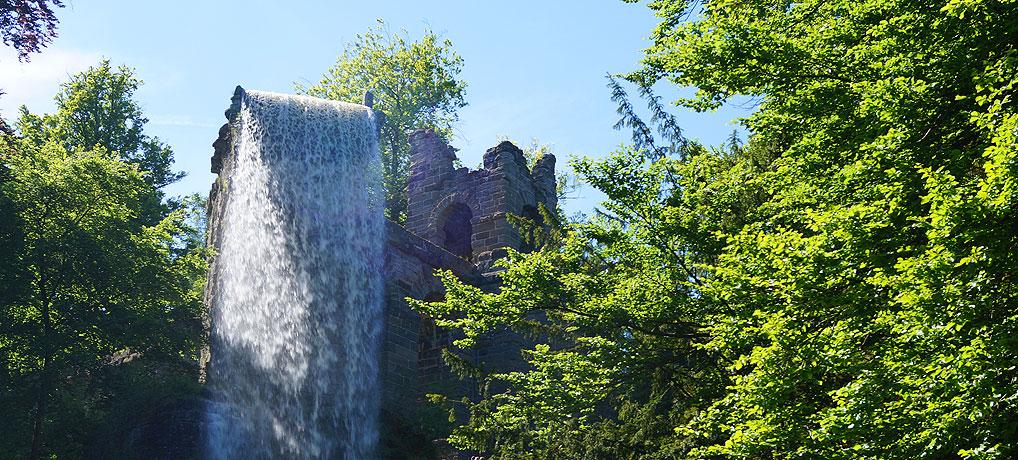 Wasserspiele im Bergpark Kassel