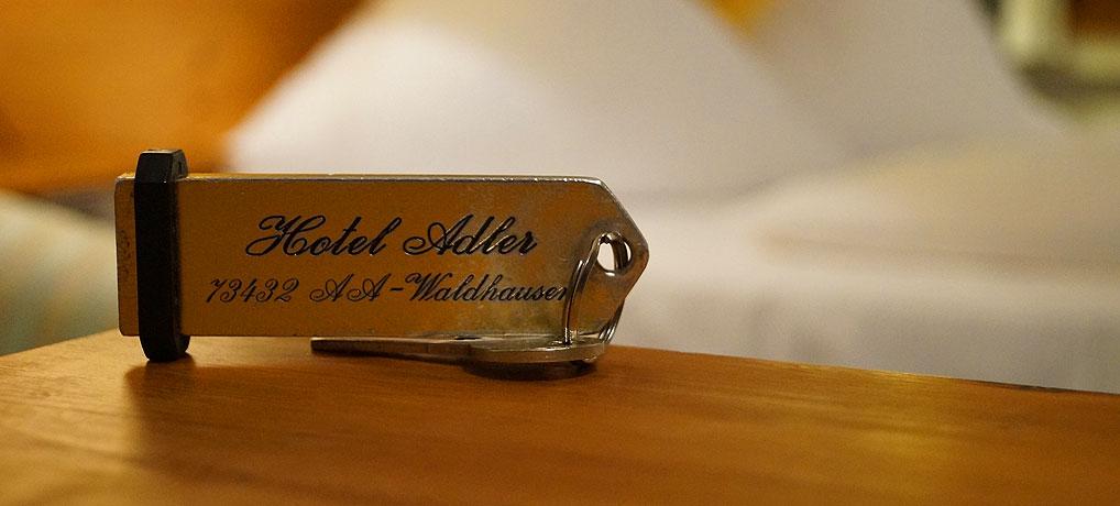 Hotelschlüssel vom Hotel Adler in Aalen