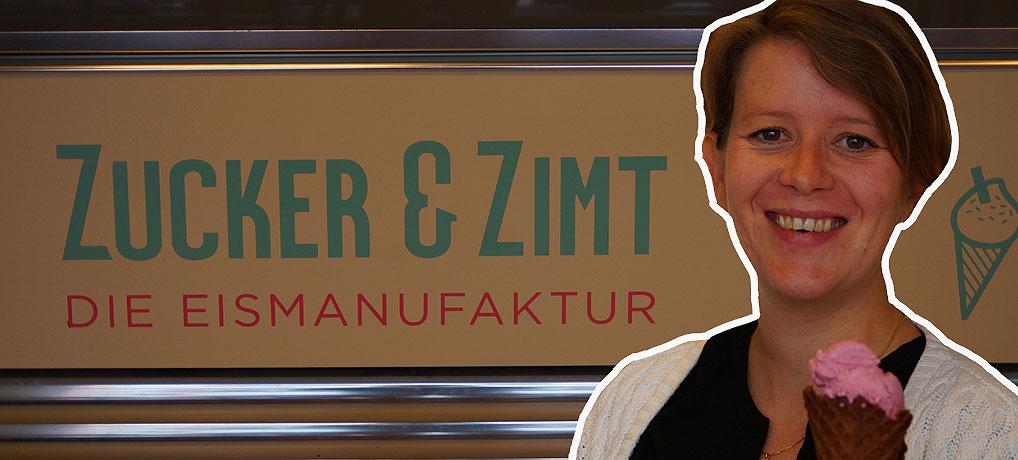 Franziska Eichholz ist Chefin in der Eisdiele Zucker und Zimt in Erfurt.
