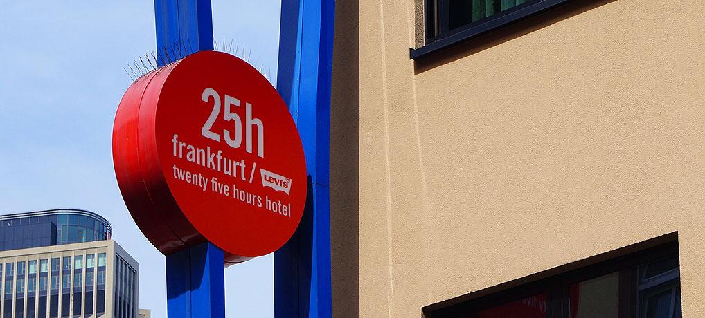 Städtereise nach Frankfurt geplant? Dann das Hotel 25hours Frankfurt by Levis.