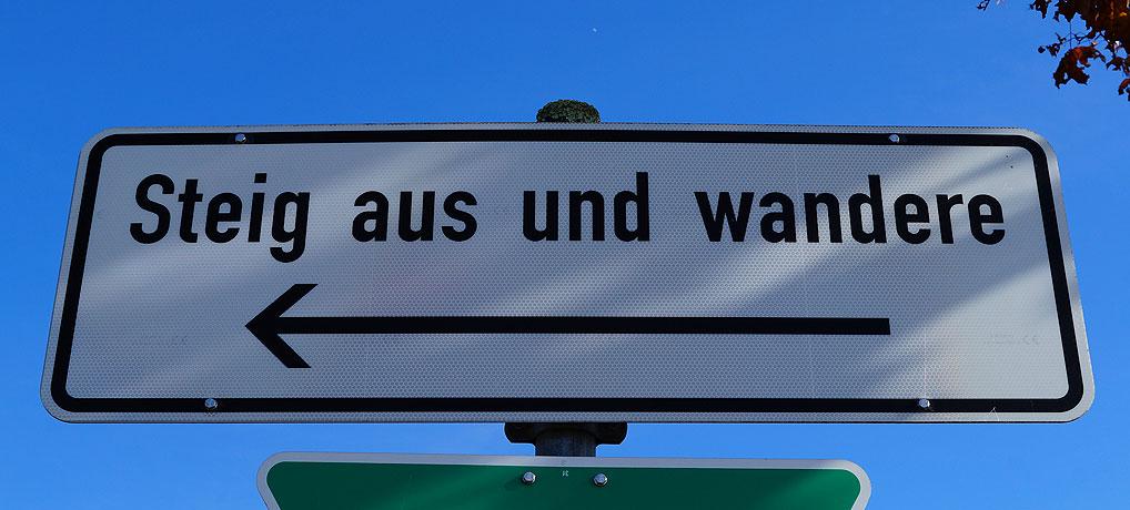 Steig aus und wandere von Winnenden nach Grunbach