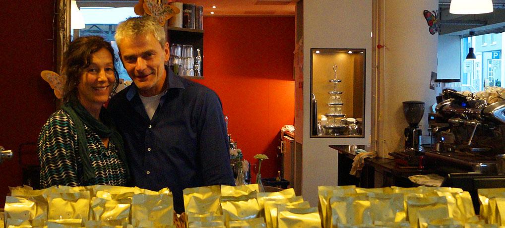 Stephanie und Christian betreiben die Kafferösterei Kaiserslautern, ein schönes Cafe in der Pfalzstadt.