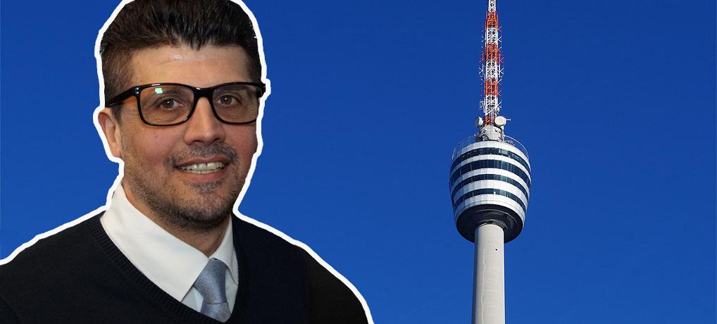 Ayhan ist Aufzugführer im Stuttgarter Fernsehturm, eine der top Sehenswürdigkeiten in Stuttgart und Baden-Württemberg