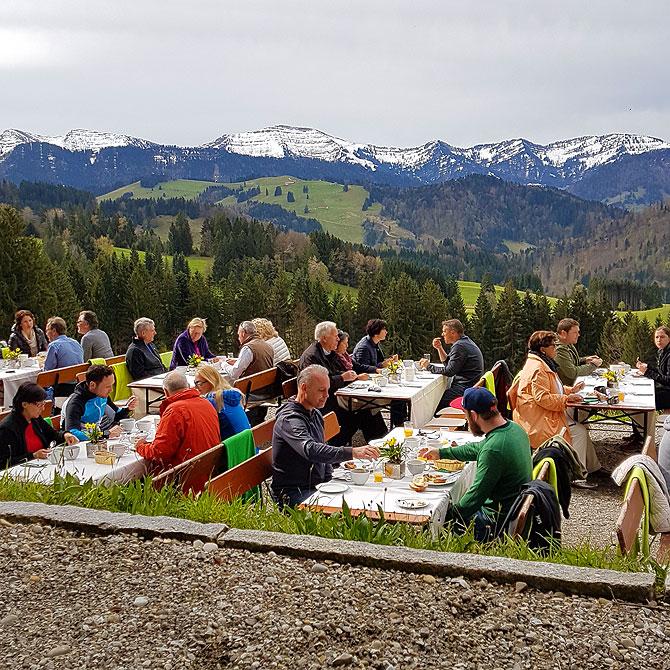 Bergfrühstück in Haubers Alpenresort Oberstaufen