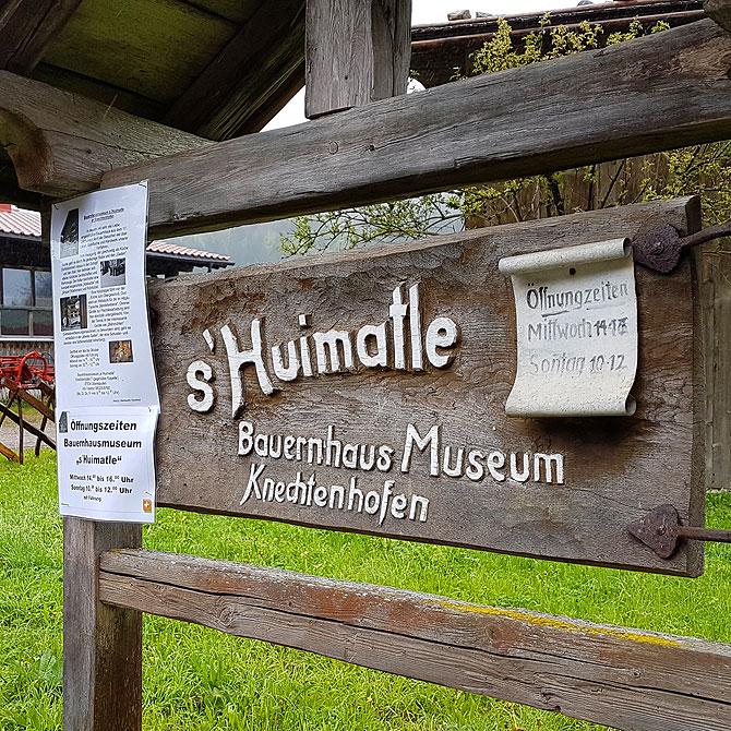 Das Huimatle ist ein Heimatmuseum bei Oberstaufen.