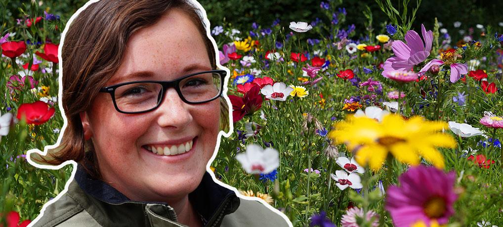 Melanie Trinks ist Gärtnerin im Erfurter egapark, einem Gartenschaugelände
