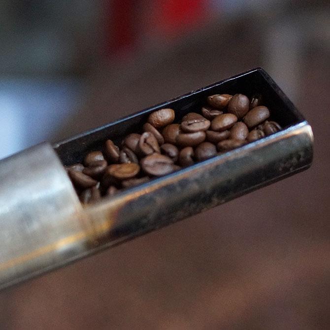 Kaffeebohne ohne Silberhäutchen