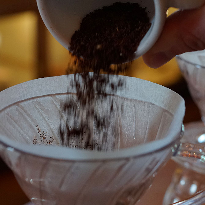 Kaffeepulver, ohne Melitta-Filter