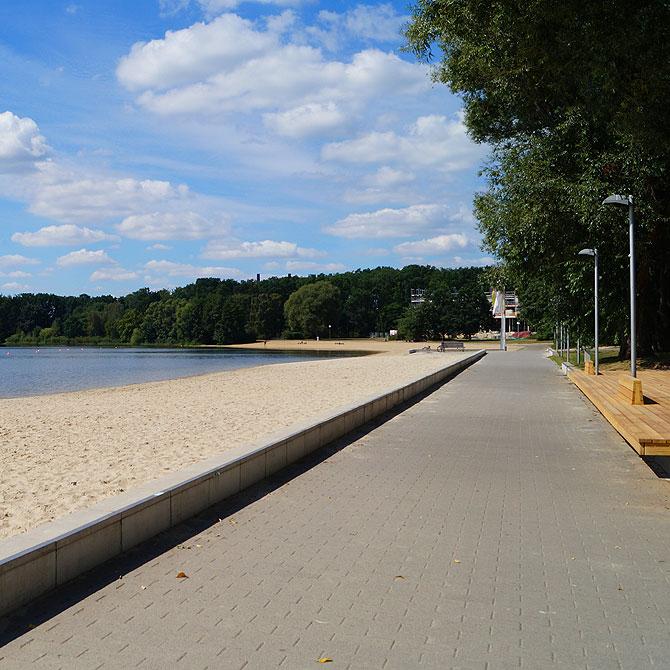 Strandpromenade mitten in der Stadt