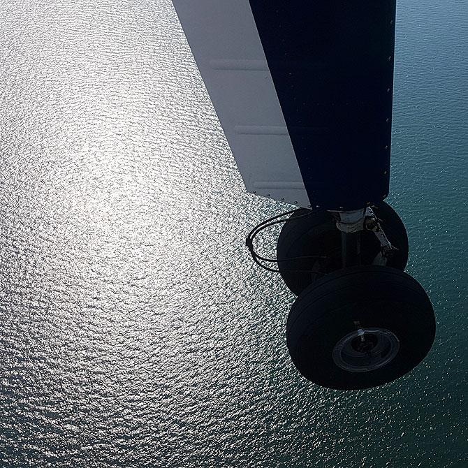 Sonne schimmert auf Nordsee