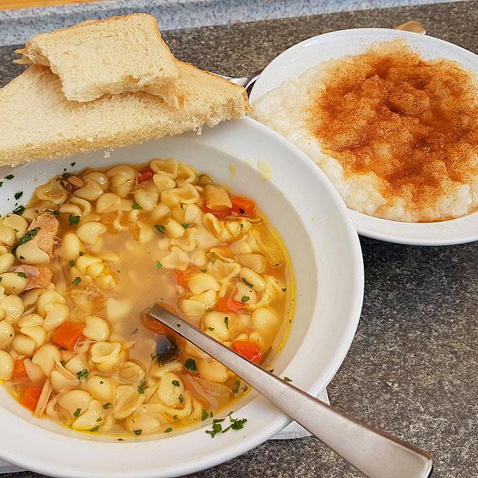 Suppe und Milchreis sind ein Muss