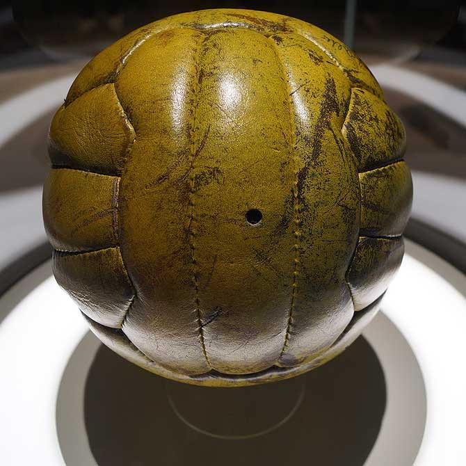 Ein Ball aus richtigem Leder