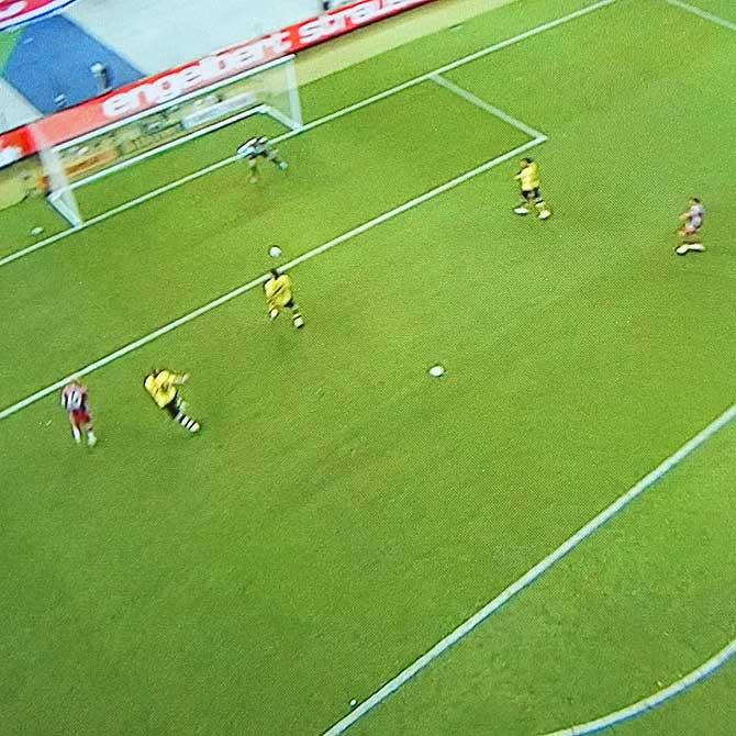 Spielszene Bayern München gegen Borussia Dortmund