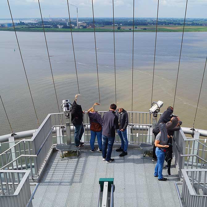 Ausblick auf Weser und Nordsee