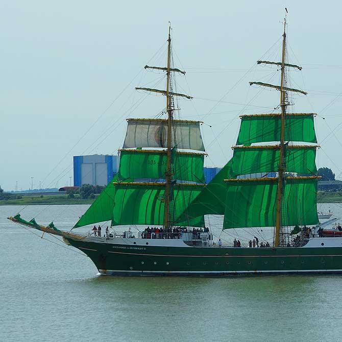 Das Becks Schiff bei der Sail