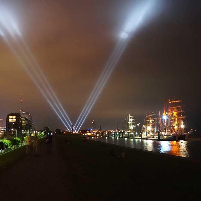Eine der wichtigsten Sehenswürdigkeiten in Bremerhaven: die SAIL