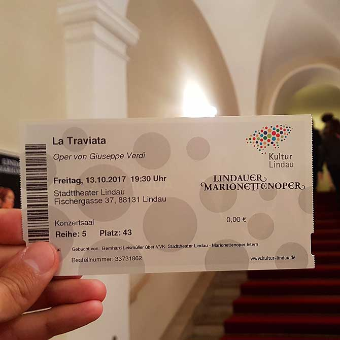Ticket für die Lindauer Marionettenoper