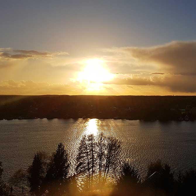 Ausblick vom Turm Mirow auf die Seenplatte