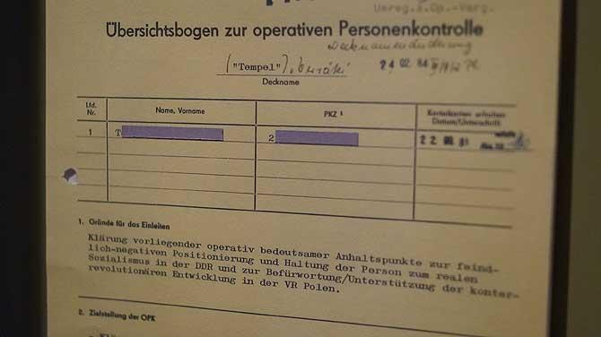 Übersichtsbogen zur Personenkontrolle