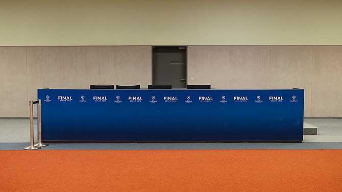 Pressekonferenz im Sportlerbereich