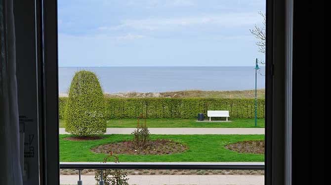 Ausblick auf die Heringsdorfer Strandpromenade