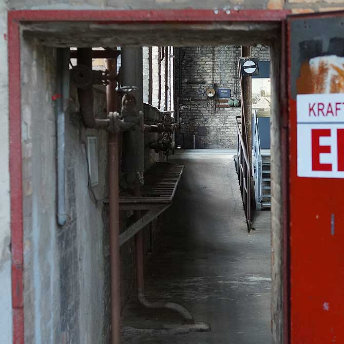 Eingang in das Kraftwerk des Museums