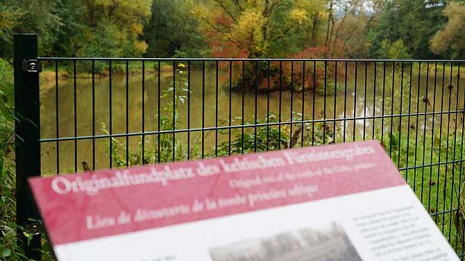 Fundplatz des Fürstinnengrabes