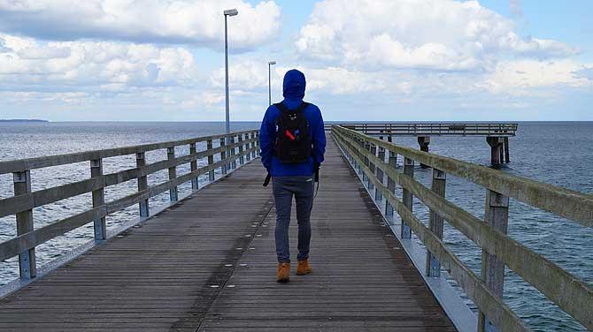 Ich auf der Seebrücke Timmendorf