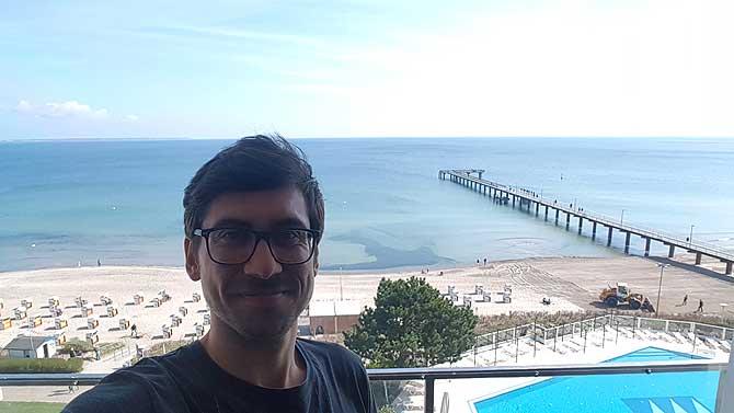 Ich im Maritim Hotel Timmendorfer Strand