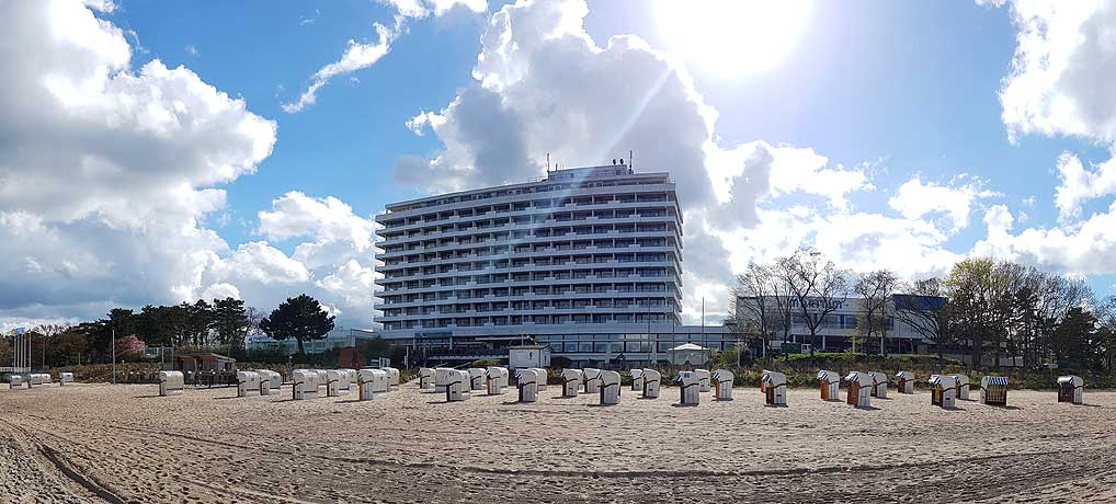 Das Maritim Hotel Timmendorfer Strand liegt direkt am feinen Sandstrand von Timmendorf