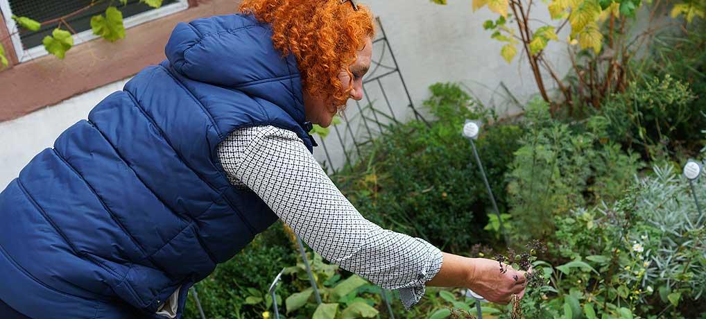Gabi Steinmann ist Chefin ihres Cafe Saisonal in Herbitzheim im Saarland