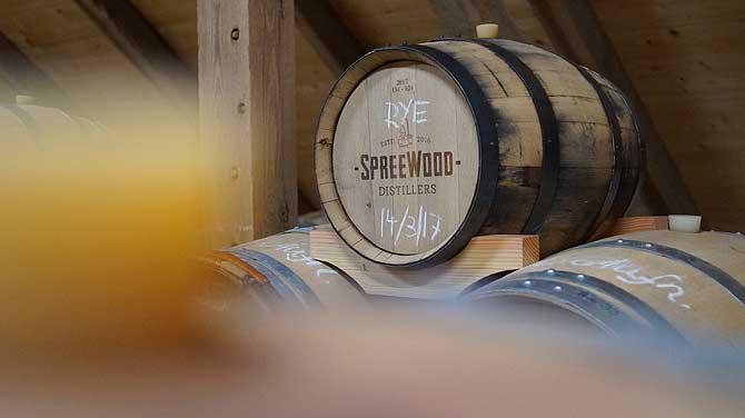 Holzfass alias Barrique mit Rye Whisky