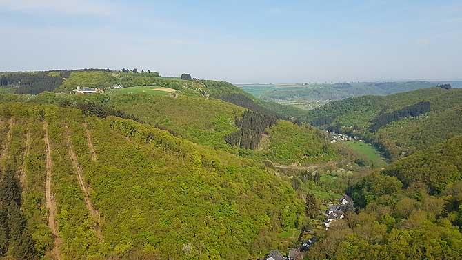 Panorama 360 Grad Rundumsicht ins Ehrbachtal