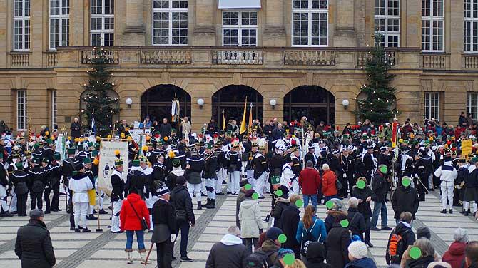Aufstellung der Chemnitzer Bergparade