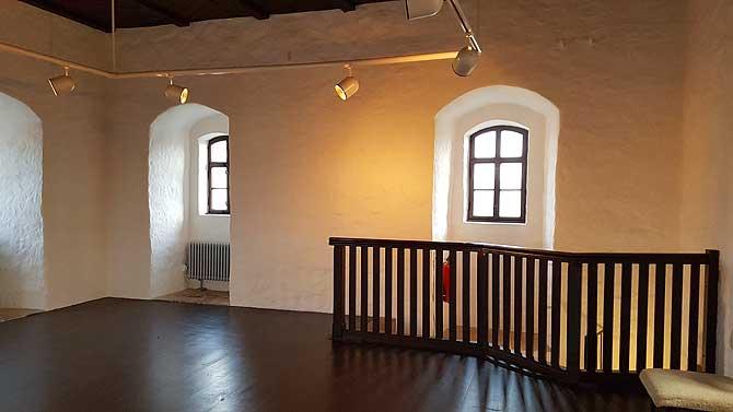 Innenraum und Aussichtsplattform im Chemnitzer Roter Turm