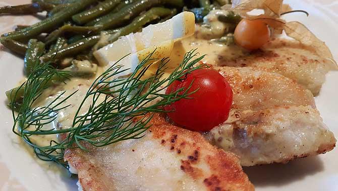 Fischgericht im Emder Restaurant