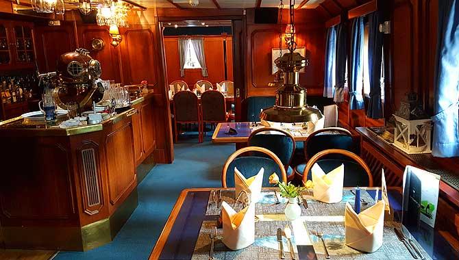 Unterdeck im Restaurant Feuerschiff