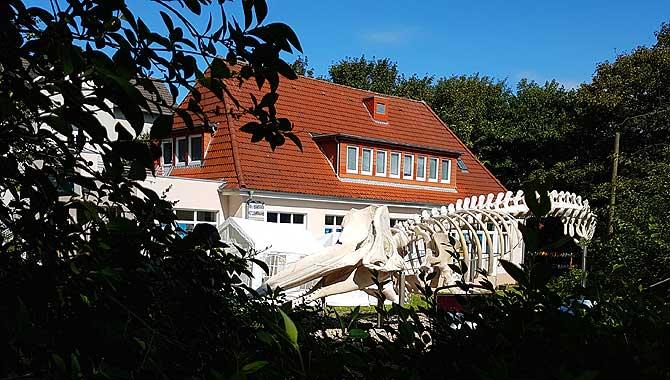 Nationalparkhaus Wangerooge mit Wal
