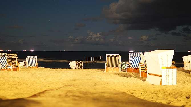 Strand unter Langzeitbelichtung