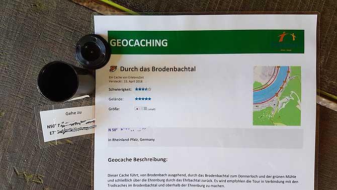 Anleitung fürs Geo Caching in Brodenbach