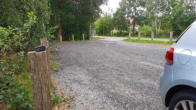 Parkplatz zum Parken am Moot