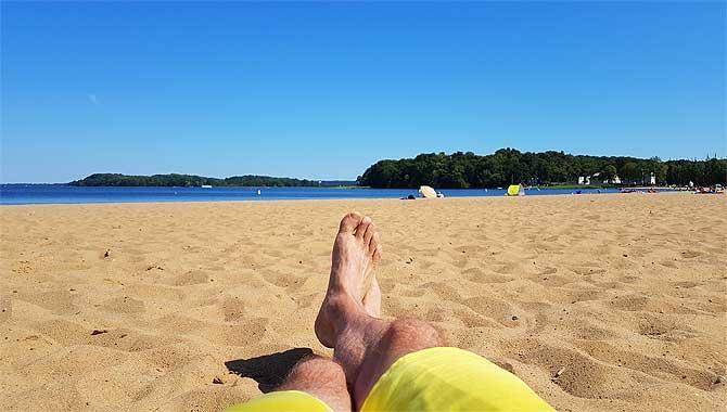 Ich am Zippendorfer Strand