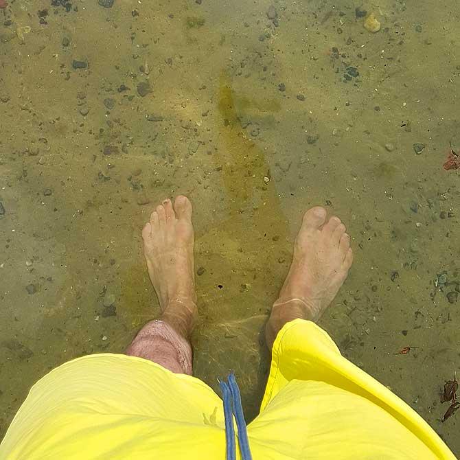 Ich im erfrischenden Schweriner See