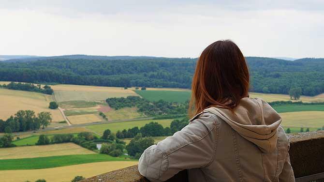 Aussicht von Burg Ronneburg