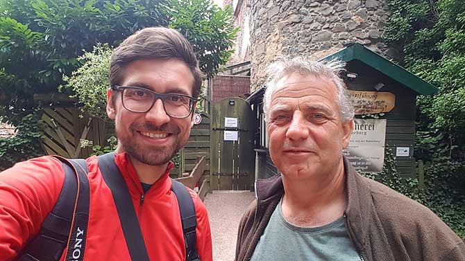 Ich mit Falkner Walter Reinhard