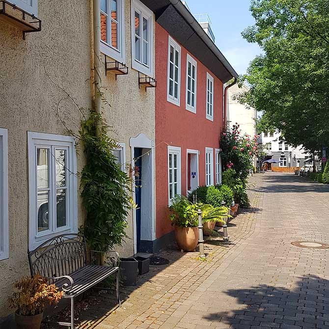 Malerische Gasse, die Kleine Mauerstraße in Herford