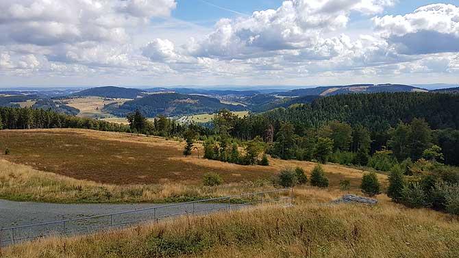 Schöne Landschaft am Ettelsberg